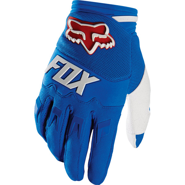 Gant long FOX DirtPaw Race bleu blanc 2016